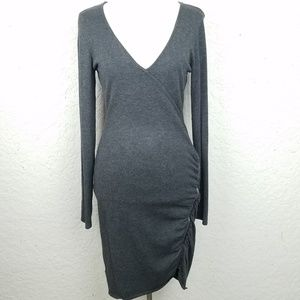 Guess Women dress size M long sleeves solid grey